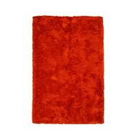EORC Handmade Orange Solid London Shag Rug