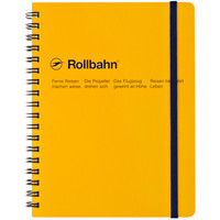"""Rollbahn Notebook Yellow<br/>Small 4.25 x 5.5"""" Or Large 5.5 x 7"""""""