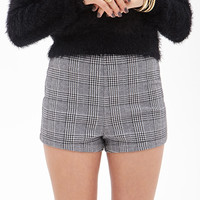 Houndstooth Plaid Shorts