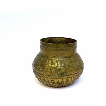 Father's day. Vintage brass. Inkwell. Writer gift. Gift for writer. Writing desk. Rustic office desk. Study desk. Middle eastern decor.