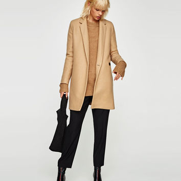 SOFT-FEEL DOUBLE-BREASTED COAT