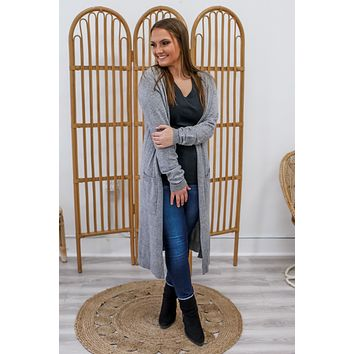 Make Your Own Luck Cardigan - Heather Grey