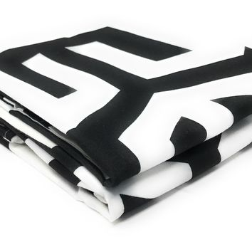 Tache 2 Piece Sophisticated Condo Monochrome Fancy Pillow Covers (TA2141-PC)
