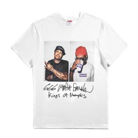 Supreme 12aw 666 Mafia Tee 666 White T-shirt - Best Online Sale