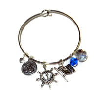 United States Coast Guard Charm Bangle Bracelet