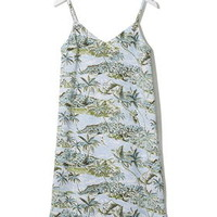 Hawaii Print Slip Dress by Boutique - Pale Blue