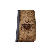 Harry Potter inspired Marauders Map Samsung Galaxy S5 Leather Wallet Case Made in USA