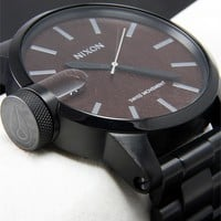 Nixon Chronicle SS Dark Wood/Black Watch - Cool Watches from Watchismo.com