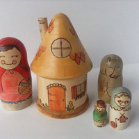 Little Red Riding Hood Nesting Doll Set