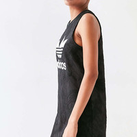 adidas Originals + UO Floral Jacquard Tank Dress - Urban Outfitters