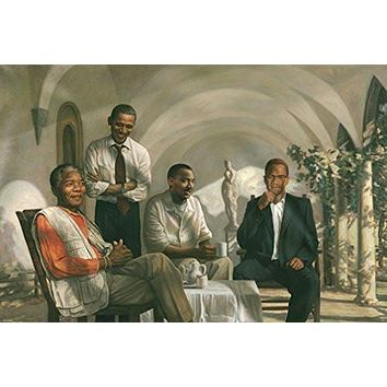 THE PIONEERS POSTER Mandela - Malcolm X - Obama - Martin Luther King MLK RARE HOT NEW 24x36