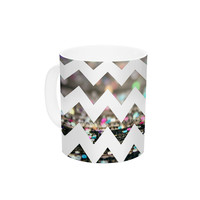 "Beth Engel ""After Party Chevron"" Ceramic Coffee Mug"