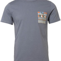 Blue Patterned Pocket T-Shirt - Shop All Sale  - Sale  Special Offers  - TOPMAN USA
