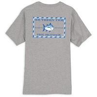 Original Skipjack Tee in Heathered Grey by Southern Tide