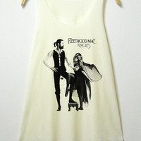 fleetwood mac, women tank top, off white shirt, sleeveless shirt, screenprint tunic, clothing tshirt, lady shirt, S/M , L/XL size