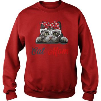 Bandana Cat Mom Sweat Shirt