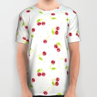 VERY CHERRY All Over Print Shirt by Anigui