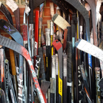 Broken Hockey Sticks for Projects