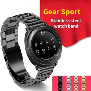New Style Three Link Steel Watch Band For Samsung Gear Sport Stainless Steel Metal Strap For Samsung Gear S2 Classic for People