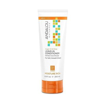 Andalou Naturals Conditioner Moisture Rich Leave In - Argan Oil & Shea - 6.8 Oz