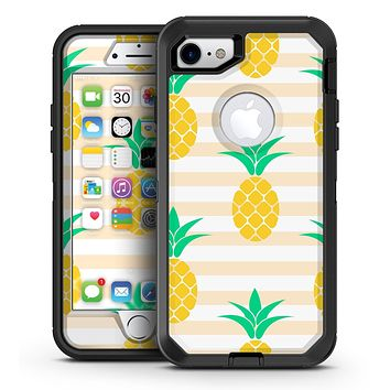 Pineapple Over Apricot Stripes - iPhone 7 or 7 Plus OtterBox Defender Case Skin Decal Kit