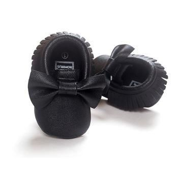 NEW Styles Baby Soft PU Leather Tassel Moccasins Girls Bow Moccs First walkers Shoes M