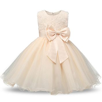 princess flower girl dress summer 2017 1st first birthday party baby girl dress parade dresses for girls vestido bebes infantil