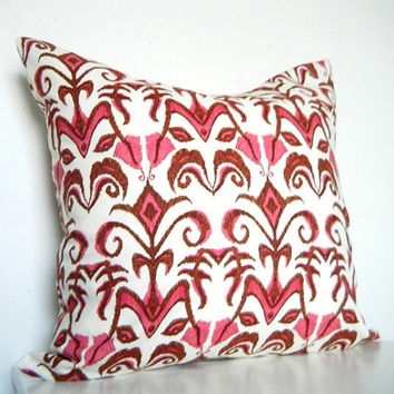 Bright Bohemian Pillow in Pink 16x16 Inch by CityGirlsDecor