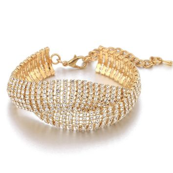 Elegant Cubic Zirconia Simple Design Bracelet