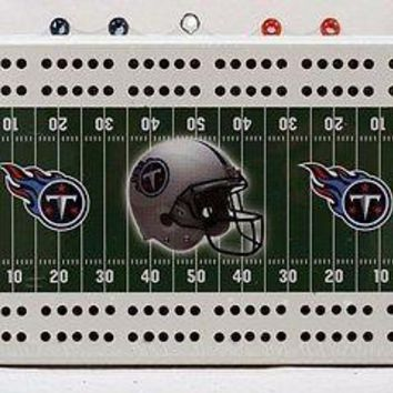 Tennessee Titans NFL 2 Track Cribbage Board