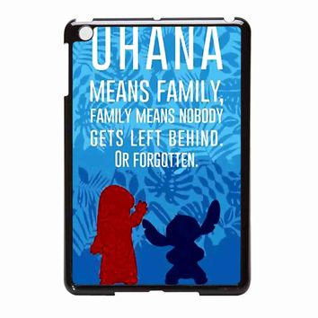 Lilo And Stitch Ohana Speak  iPad Mini Case