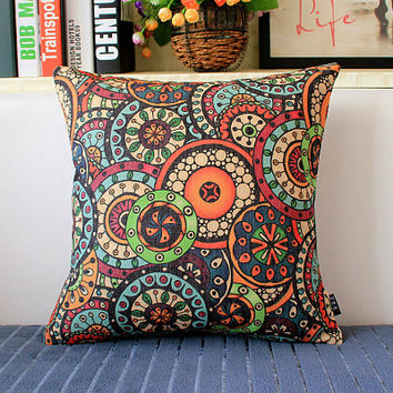 Linen Hold Emoji Pillow Pillowcase Case Cushion For Leaning