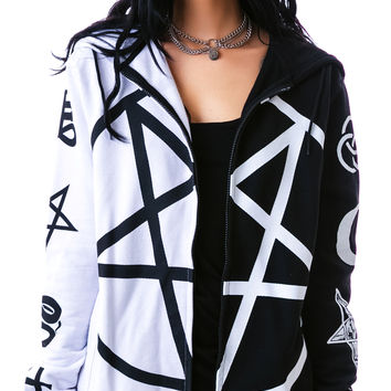Kill Star Split Personality Hoodie Black