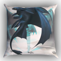 How To Train Your Dragon Nigh Fury Z0966 Zippered Pillows  Covers 16x16, 18x18, 20x20 Inches
