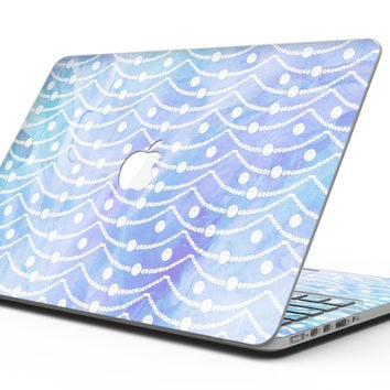 Blue and Purple Watercolor Waves - MacBook Pro with Retina Display Full-Coverage Skin Kit