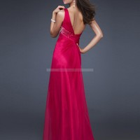 Bridal Party Dresses - Empire One Shoulder Sleeveless Floor-length Chiffon Bridesmaid / Evening Dresses / Prom Dresses @bdress1 - Prom Dresses - Event Dresses - Special Occasion Dresses - Affordable Wedding Dresses Manufacturer