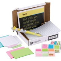 Post-it Study Kit with Tabs, Flags, Arrow Flags, Note Tabs, Grid Notes, Full Adhesive Notes, Label Pads, and Flag + Highlighter