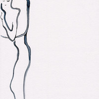 Minimalist watercolor sketch of a man holding a woman. Modern minimalist art. Slightly erotic embrace. Romantic gift idea.