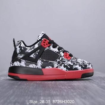 Air Jordan 4 Tattoo Toddler Kid Shoes Child Sneakers - Best Deal Online
