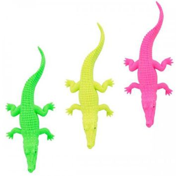 Neon Crocodile Toy Party Favor