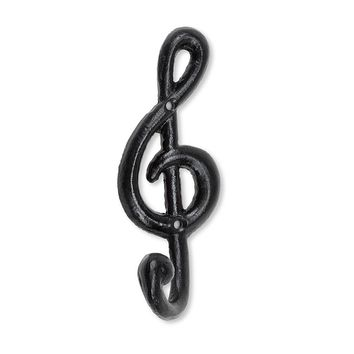 Treble Clef Note Cast Iron Hook | 6-1/2-in