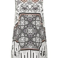 MATERNITY Scarf Print Tunic Top - Monochrome