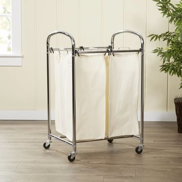 Wayfair Basics 2 Bag Laundry Sorter