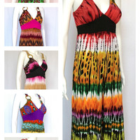 HOT NEW MAXI DRESSES AZTEC TRIBAL PAISLEY ANIMAL PRINT BOHEMIAN FLORAL SZ S-3X