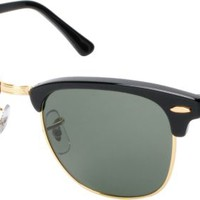 Ray-Ban Clubmaster Black & Gold Sunglasses