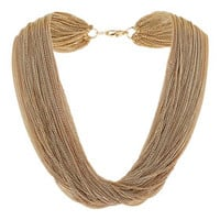 Multi Row Chain Necklace - Gold