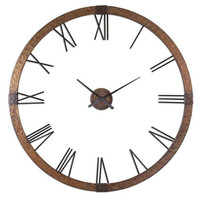 "Uttermost Amarion 60"" Copper Wall Clock - 06655"
