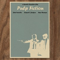 Pulp Fiction 16x12 Movie Poster by monstergallery on Etsy