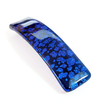 Hair Barrette Cobalt Blue with French Snap Clip