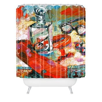 Ginette Fine Art Kenzo 4 Men Shower Curtain